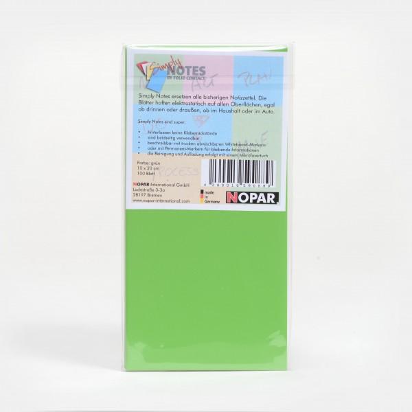 Notes10x20cm, green/green, 100 Sheets